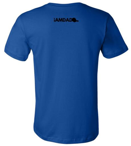i am dad 365 blue t-shirt back
