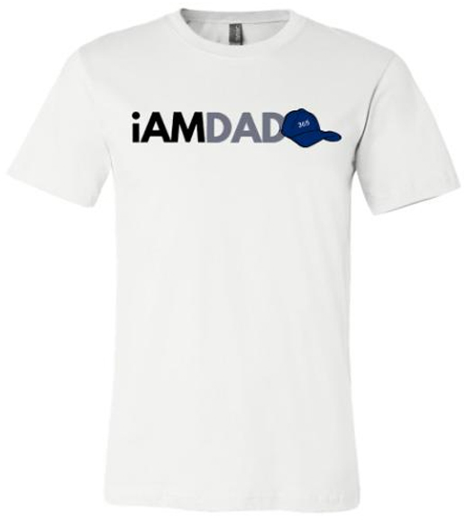 iamdad365 white t-shirt